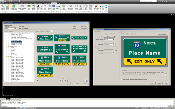 Highway Exit Sign Template MUTCD 2009 SIGN TEMPLATES